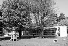 Asilo St Elia dzieciniec w Como w czarny i biały Obraz Stock