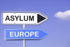Asilo y Europa Imagenes de archivo