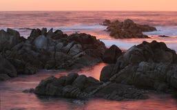 Asilomar delstatsparkstrand, nära Monterey, Kalifornien, USA Arkivfoto