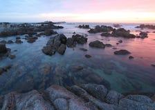 Asilomar delstatsparkstrand, nära Monterey, Kalifornien, USA Royaltyfri Bild