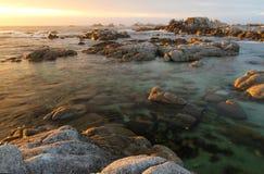 Asilomar delstatsparkstrand, nära Monterey, Kalifornien, USA Arkivfoton