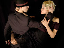 Asimiento del tango Imágenes de archivo libres de regalías