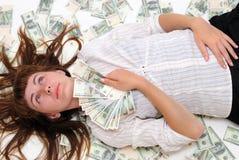 Asimientos adolescentes dinero y sueños Imagenes de archivo