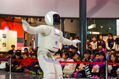 Asimo, el robot del humanoid imagen de archivo