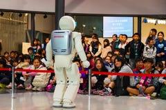 Asimo the humanoid robot Stock Images