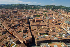从Asinelli塔上面的看法  免版税图库摄影