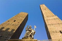 Asinelli torn - bologna Royaltyfri Foto