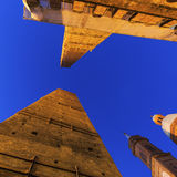 Asinelli Tower in Bologna Royalty Free Stock Photos