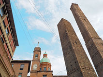 Asinelli tower Bologna Italy Stock Image