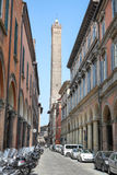 Asinelli Tower in Bologna, Italy royalty free stock photography
