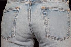 Asino delle blue jeans fotografia stock libera da diritti