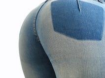 Asino sexy in blue jeans strette Fotografie Stock