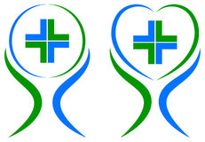 asistencia médica más logotipo stock de ilustración