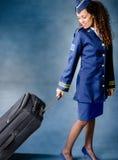Asistente de vuelo Foto de archivo libre de regalías