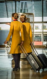 Asistentes de vuelo Fotos de archivo libres de regalías