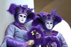 Asistentes del carnaval Imagen de archivo libre de regalías