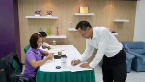 Asistentes del seminario en Tailandia Imágenes de archivo libres de regalías
