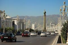 Asjabad, Turkmenistán - circa junio de 2013: Vew en el moderno ancho fotografía de archivo libre de regalías