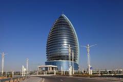Asjabad, Turkmenistán - 15 de octubre de 2014: Arquitectura moderna o Imágenes de archivo libres de regalías
