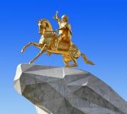 Asjabad, Turkmenistán - 20 de octubre de 2015 Monumento al presidente Foto de archivo