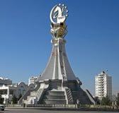 Asjabad, Turkmenistán - 19 de octubre de 2015 5to asiático del monumento I fotos de archivo libres de regalías