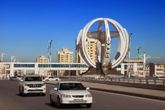 ASJABAD, TURKMENISTÁN, el 25 de enero de 2017: Arquitectura moderna o Fotografía de archivo