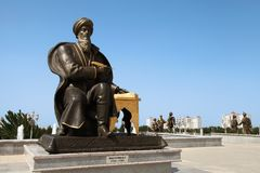 Asjabad, Turkmenistán - octubre, 15 2014: Monumento f histórica Imagenes de archivo