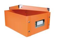 ask öppnad orange lagring Royaltyfria Bilder