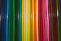 Ask av blyertspennor royaltyfri bild