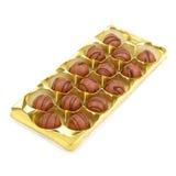 Ask av choklader royaltyfri fotografi