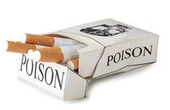 Ask av cigaretten Arkivfoto