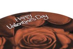 Ask av dagen för chokladvalentin` s Arkivbild