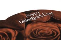 Ask av dagen för chokladvalentin` s Royaltyfri Bild