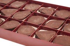 Ask av godisar för söt choklad Royaltyfria Bilder
