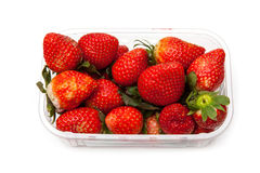 Ask av jordgubbar Royaltyfri Bild