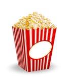 Ask av popcorn royaltyfri illustrationer