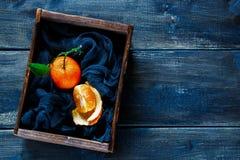 Ask av saftiga tangerin Royaltyfri Bild
