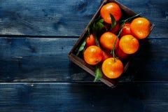 Ask av saftiga tangerin Arkivbild