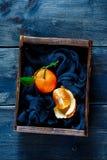 Ask av saftiga tangerin Arkivbilder