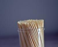 Ask av tandpetare Royaltyfri Foto