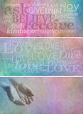 Ask Believe Receive Rustic Banners x 3 stock images