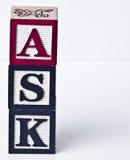 Ask Blocks Verticle Royalty Free Stock Image