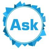 Ask Blue Random Shapes Circle Royalty Free Stock Photos