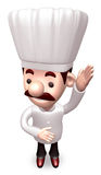 Ask the chef hands up. 3D Chef Character Stock Photos
