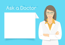 Ask a Doctor Information banner Stock Photos