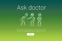 Composite image of ask doctor text with human representations Stock Images