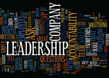 Ask Don T Tell Leadership How Do I Create Accountability As A Leader Word Cloud Concept Stock Images