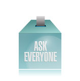 Ask everyone ballot illustration design Royalty Free Stock Photos