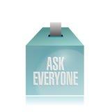 Ask everyone ballot illustration design Royalty Free Stock Photos