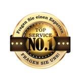Ask an expert. Ask Us German language. Ask an expert. Ask Us. Top Service German language: Fragen Sie einen Experten. Fragen Sie uns!  - elegant German ribbon / Royalty Free Stock Images